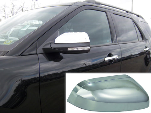QAA PART MC51330 Fits EXPLORER 2011-2015 FORD (2 Pc: ABS Plastic Mirror Cover Set - Full, 4-door, SUV) MC51330