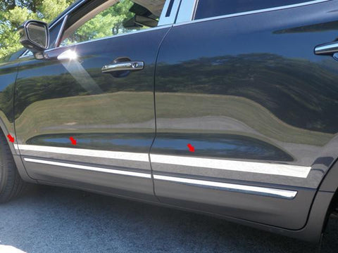 "QAA PART  MI55640 fits MKC 2015-2018 LINCOLN (6 Pc: Stainless Steel Molding Insert Trim - 1.25"" - 1.75"" tapered width, 4-door, SUV) MI55640"