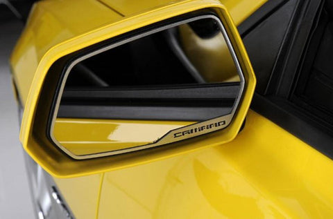 Camaro Brushed Stainless Side View Mirror Trim - Auto-Truck-Accessories  - 1