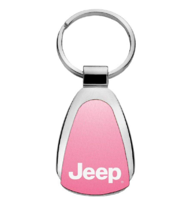 Jeep Pink Tear Drop Key Chain