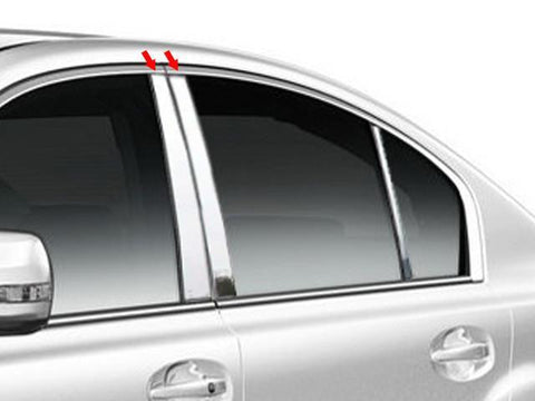 QAA PART  PP10445 fits LEGACY 2010-2014 SUBARU (4 Pc: Stainless Steel Pillar Post Trim Kit, 4-door) PP10445