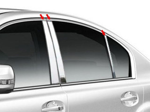 QAA PART  PP10446 fits LEGACY 2010-2014 SUBARU (6 Pc: Stainless Steel Pillar Post Trim Kit, 4-door) PP10446