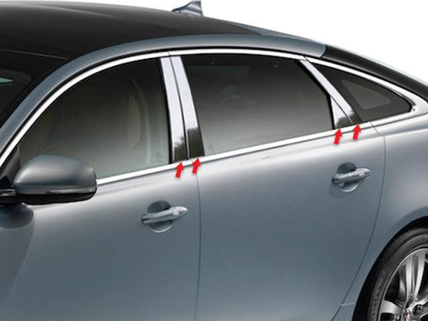 QAA PART  PP11096 fits XJ-L SERIES 2011-2018 JAGUAR (8 Pc: Stainless Steel Pillar Post Trim Kit, 4-door) PP11096