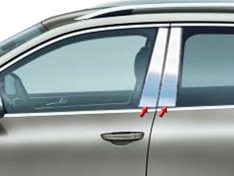 QAA PART  PP11640 fits TOUAREG 2011-2017 VOLKSWAGEN (4 Pc: Stainless Steel Pillar Post Trim Kit, 4-door, SUV) PP11640