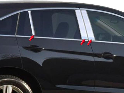 QAA PART  PP13271 fits RDX 2013-2018 ACURA (6 Pc: Stainless Steel Pillar Post Trim Kit, 4-door, SUV) PP13271