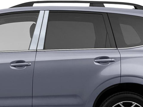 QAA PART  PP14440 fits FORESTER 2014-2018 SUBARU (4 Pc: Stainless Steel Pillar Post Trim Kit, 4-door) PP14440