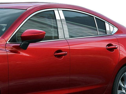 QAA PART  PP14762 fits MAZDA6 2014-2018 MAZDA (10 Pc: Stainless Steel Pillar Post Trim Kit w/ 2 rear pieces, 4-door) PP14762