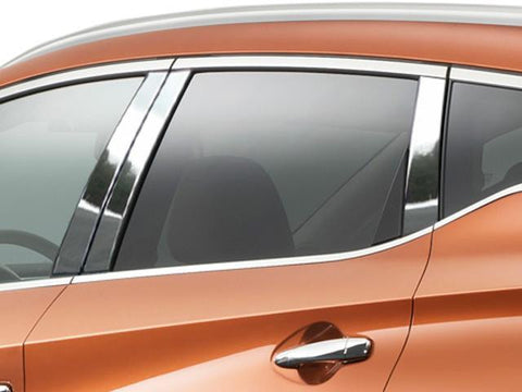 QAA PART  PP15591 fits MURANO 2015-2018 NISSAN (6 Pc: Stainless Steel Pillar Post Trim Kit, 4-door, SUV) PP15591