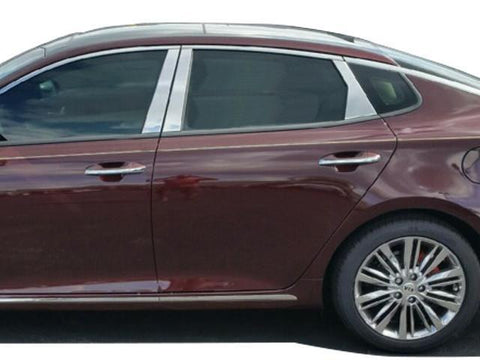 QAA PART PP16806 Fits OPTIMA 2016-2017 KIA (6 Pc: Stainless Steel Pillar Post Trim Kit, 4-door) PP16806