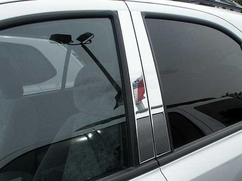 QAA PART  PP23820 fits SORENTO 2003-2006 KIA (4 Pc: Stainless Steel Pillar Post Trim Kit, 4-door, SUV) PP23820