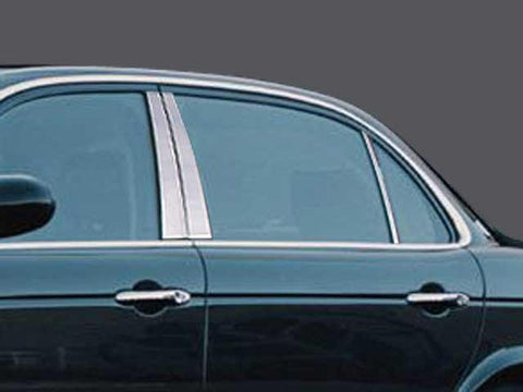 QAA PART  PP24095 fits XJ SERIES 2004-2009 JAGUAR (6 Pc: Stainless Steel Pillar Post Trim Kit, 4-door) PP24095