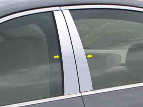 QAA PART  PP25930 fits 5 SERIES 2004-2010 BMW (4 Pc: Stainless Steel Pillar Post Trim Kit, 4-door) PP25930