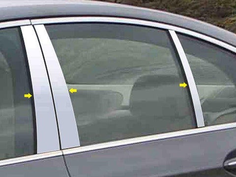 QAA PART  PP25931 fits 5 SERIES 2004-2010 BMW (6 Pc: Stainless Steel Pillar Post Trim Kit, 4-door) PP25931
