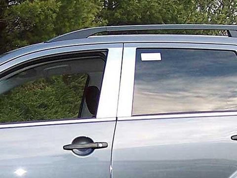 QAA PART  PP27010 fits OUTLANDER 2007-2009 MITSUBISHI (4 Pc: Stainless Steel Pillar Post Trim Kit, 4-door, SUV) PP27010