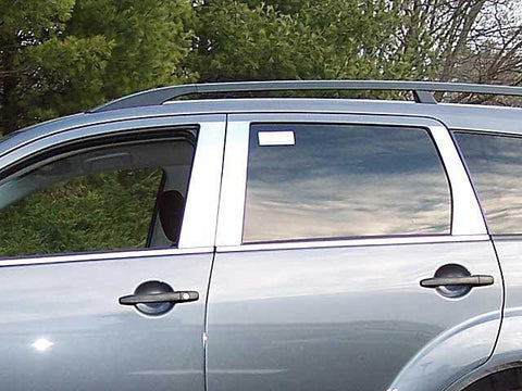 QAA PART  PP27011 fits OUTLANDER 2007-2009 MITSUBISHI (6 Pc: Stainless Steel Pillar Post Trim Kit, 4-door, SUV) PP27011