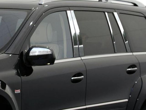QAA PART  PP27078 fits GL CLASS 2007-2012 MERCEDES (8 Pc: Stainless Steel Pillar Post Trim Kit, 4-door, SUV) PP27078