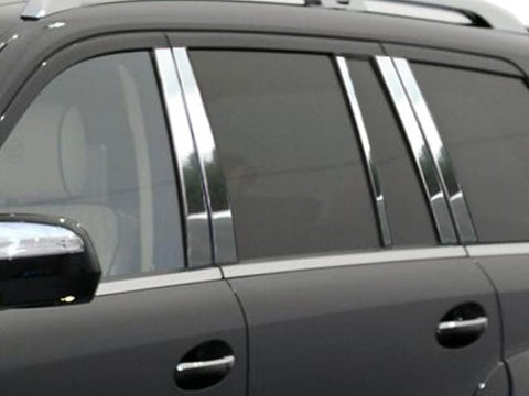 QAA PART  PP27079 fits GL CLASS 2007-2012 MERCEDES (10 Pc: Stainless Steel Pillar Post Trim Kit, 4-door, SUV) PP27079