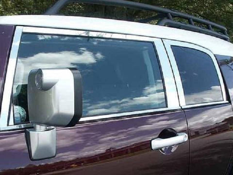QAA PART  PP27142 fits FJ CRUISER 2007-2014 TOYOTA 4-door, SUV (8 Pc: Stainless Steel Includes front triangle Pillar Post Trim) PP27142
