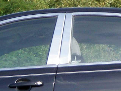 QAA PART  PP27365 fits ACCENT 2006-2011 HYUNDAI (4 Pc: Stainless Steel Pillar Post Trim Kit, 4-door) PP27365