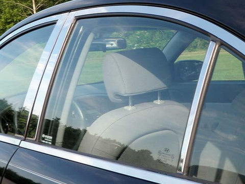 QAA PART  PP27366 fits ACCENT 2006-2011 HYUNDAI (6 Pc: Stainless Steel Pillar Post Trim Kit, 4-door) PP27366