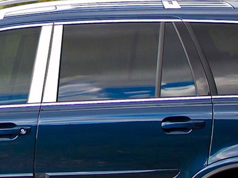 QAA PART  PP27380 fits XC90 2007-2014 VOLVO (4 Pc: Stainless Steel Pillar Post Trim Kit, 4-door) PP27380