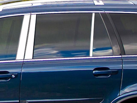QAA PART  PP27381 fits XC90 2007-2014 VOLVO (6 Pc: Stainless Steel Pillar Post Trim Kit, 4-door) PP27381