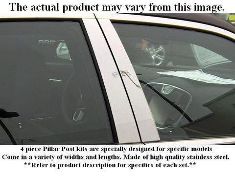 QAA PART  PP26011 fits OUTLANDER 2002-2006 MITSUBISHI (6 Pc: Stainless Steel Pillar Post Trim Kit, 4-door, SUV) PP26011