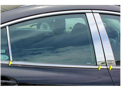 QAA PART  PP29761 fits MAZDA6 2009-2012 MAZDA (6 Pc: Stainless Steel Pillar Post Trim Kit, 4-door) PP29761