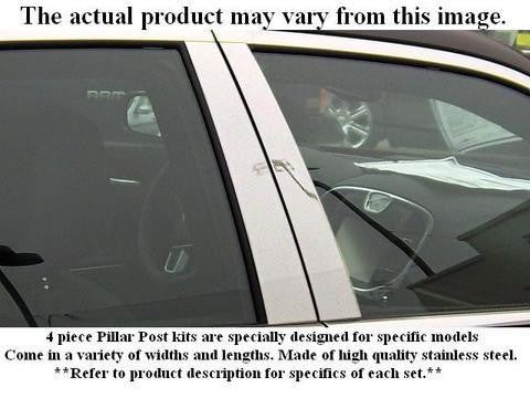 QAA PART  PP25490 fits RANGE ROVER 2003-2012 LAND ROVER (4 Pc: Stainless Steel Pillar Post Trim Kit - crease on top, 4-door, SUV) PP25490