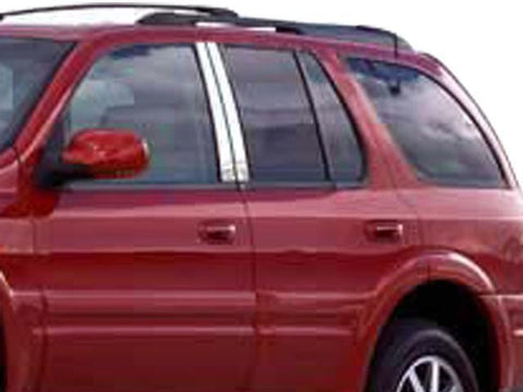 QAA PART  PP44520 fits RAINIER 2005-2007 BUICK (4 Pc: Stainless Steel Pillar Post Trim Kit , 4-door, SUV) PP44520