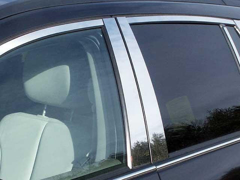 QAA PART  PP44750 fits PACIFICA 2004-2008 CHRYSLER (4 Pc: Stainless Steel Pillar Post Trim Kit, 4-door) PP44750