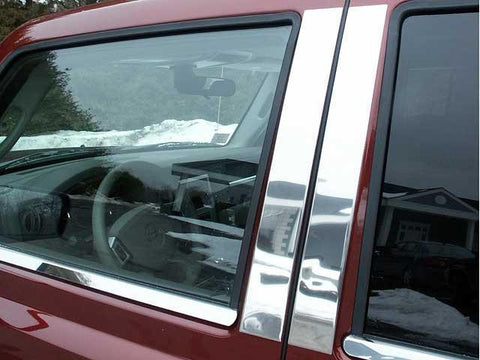 QAA PART  PP46095 fits COMMANDER 2006-2010 JEEP (4 Pc: Stainless Steel Pillar Post Trim Kit, 4-door, SUV) PP46095