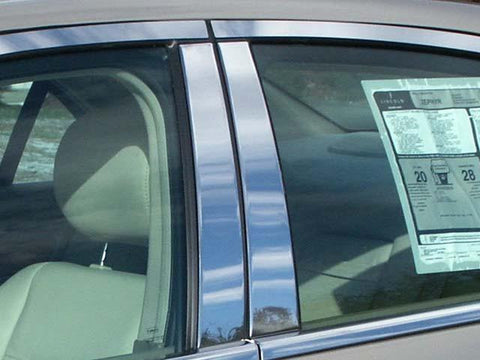 QAA PART  PP46630 fits ZEPHYR 2006 LINCOLN (4 Pc: Stainless Steel Pillar Post Trim Kit , 4-door) PP46630
