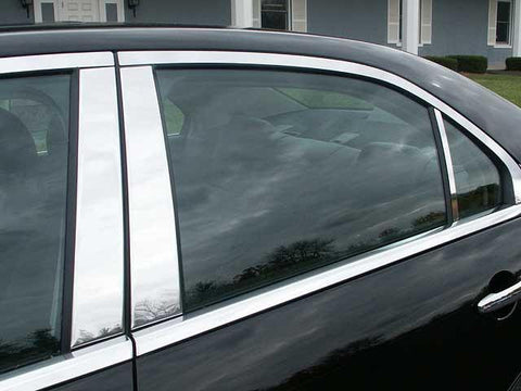 QAA PART  PP46631 fits MKZ 2006-2012 LINCOLN (6 Pc: Stainless Steel Pillar Post Trim Kit , 4-door) PP46631