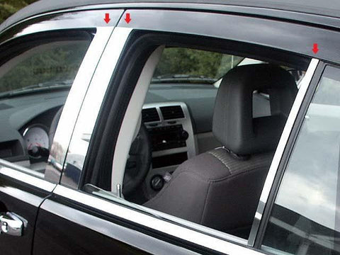 QAA PART  PP47951 fits CALIBER 2007-2012 DODGE (6 Pc: Stainless Steel Pillar Post Trim Kit, 4-door) PP47951