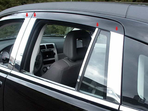 QAA PART  PP47952 fits CALIBER 2007-2012 DODGE (8 Pc: Stainless Steel Pillar Post Trim Kit, 4-door) PP47952