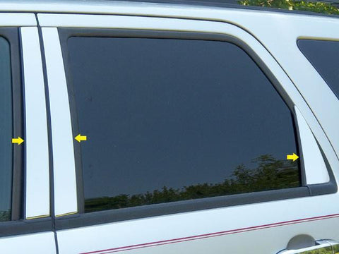 QAA PART  PP48321 fits ESCAPE 2008-2012 FORD (6 Pc: Stainless Steel Pillar Post Trim Kit , 4-door, SUV) PP48321