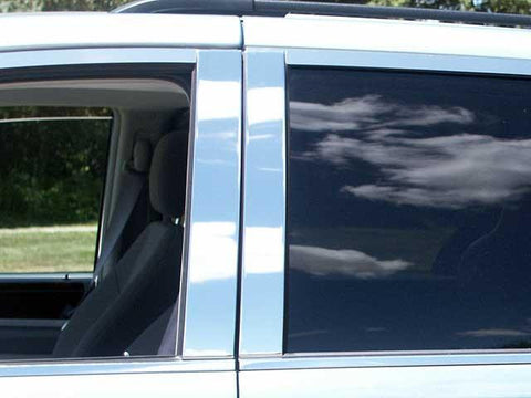 QAA PART  PP48895 fits GRAND CARAVAN 2008-2018 DODGE (4 Pc: Stainless Steel Pillar Post Trim Kit, 4-door) PP48895