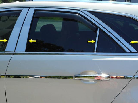 QAA PART  PP50252 fits CTS 2010-2013 CADILLAC (8 Pc: Stainless Steel Pillar Post Trim Kit , 4-door, Sport Wagon) PP50252