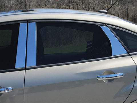 QAA PART  PP52346 fits FOCUS 2012-2018 FORD (6 Pc: Stainless Steel Pillar Post Trim Kit , Sedan & Hatchback) PP52346