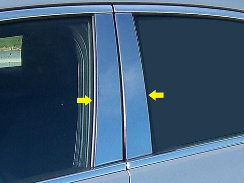 QAA PART  PP53235 fits ATS 2013-2018 CADILLAC (4 Pc: Stainless Steel Pillar Post Trim Kit, 4-door) PP53235