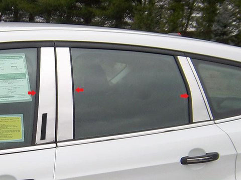 QAA PART  PP53361 fits ESCAPE 2013-2018 FORD (6 Pc: Stainless Steel Pillar Post Trim Kit w/ keyless entry access, 4-door, SUV) PP53361