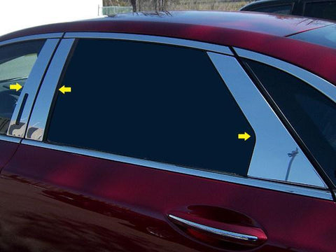 QAA PART  PP53631 fits MKZ 2013-2018 LINCOLN (6 Pc: Stainless Steel Pillar Post Trim Kit w/ keyless entry access, 4-door) PP53631