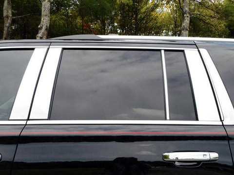 QAA PART  PP55198 fits ESCALADE 2015-2018 CADILLAC (8 Pc: Stainless Steel Pillar Post Trim Kit, 4-door, ESV) PP55198