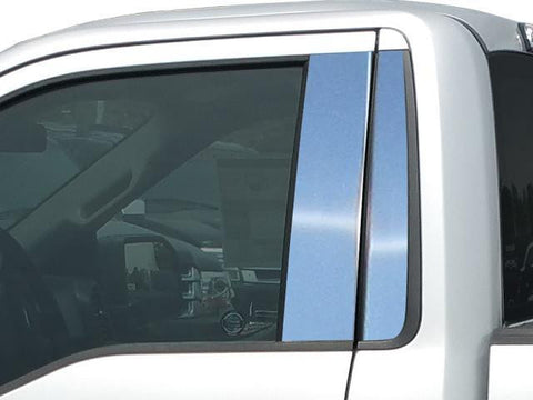 QAA PART  PP55307 fits F-150 2015-2018 FORD (4 Pc: Stainless Steel Pillar Post Trim Kit w/o keyless entry access, Regular Cab) PP55307