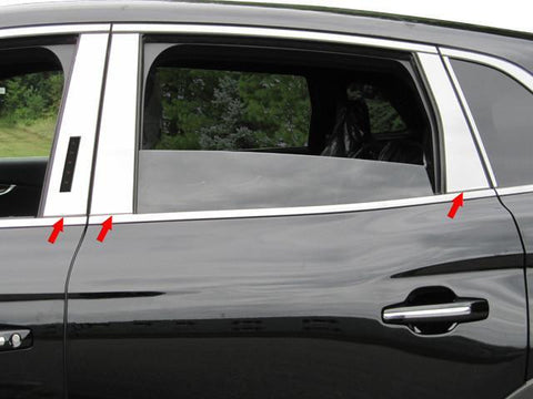 QAA PART  PP56661 fits MKX 2016-2018 LINCOLN (6 Pc: Stainless Steel Pillar Post Trim Kit, 4-door, SUV) PP56661
