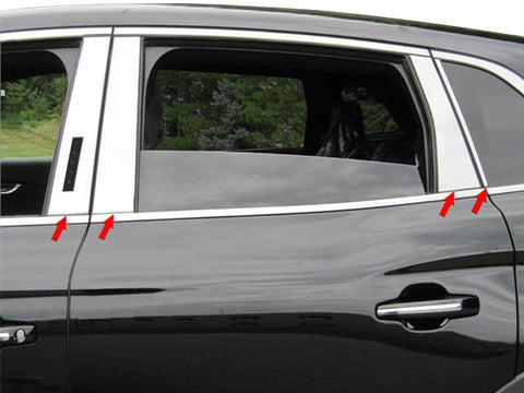 QAA PART  PP56662 fits MKX 2016-2018 LINCOLN (8 Pc: Stainless Steel Pillar Post Trim Kit, 4-door, SUV) PP56662