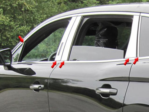 QAA PART  PP56663 fits MKX 2016-2018 LINCOLN (10 Pc: Stainless Steel Pillar Post Trim Kit w/ trim by side mirror, 4-door, SUV) PP56663