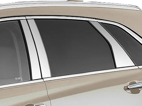 QAA PART  PP57261 fits XT5 2017-2018 CADILLAC (6 Pc: Stainless Steel Pillar Post Trim Kit, 4-door, SUV) PP57261
