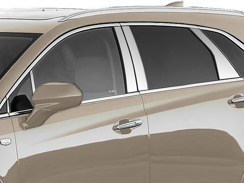 QAA PART  PP57262 fits XT5 2017-2018 CADILLAC (10 Pc: Stainless Steel Pillar Post Trim Kit w/ 2 pillars ff pillars, 4-door, SUV) PP57262